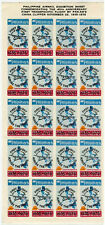 PHILIPPINES 1975 AIRMAIL EXHIBITION SHEET of 20 LABELS PAN AM TRANSPACIFIC
