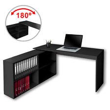 Eckschreibtisch Winkelschreibtisch Schreibtisch Bürotisch Computertisch Schwarz