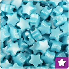 50 Baby Blue Pearl Star Shape 12mm Pony Beads Top Quality Pony Beads *3 for 2*
