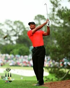 """Tiger Woods 2013 Masters Final Round Action Photo (Size: 8"""" x 10"""")"""