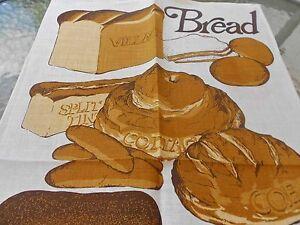 Vintage Teatowel souvenir pure irish linen teatowe by Ulster  brand new  bread