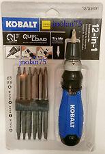 KOBALT 12 in 1 Quick Load QL3 Screwdriver Set with Handle + 14 Hex Bits 12-in-1
