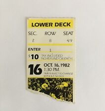 Original 1982 Wisconsin Badgers Football Ticket Stub Oct. 16, 1982