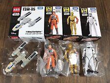 Metal Figure  Star Wars TSW-05 & Luke Skywalker &  C-3PO & Clone Treooper set