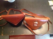 Two Vintage Unique Shaped Ladies Leather Italian Bags