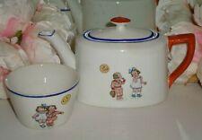 Vintage Empire Ware Art Deco 1930 Child's Teapot and Sugar Bowl