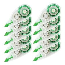 10 Pack Compact Correction Tape Office Break Proof Mono White Out School Paper