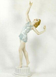 """✅ ROSENTHAL Kunstabteilung SELB Figurine 12"""" Porcelain Dancing Girl GERMANY"""