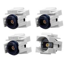 4pc Audio Toslink Optic Fiber Optics Snap-in Jack Insert for Keystone Wall Plate