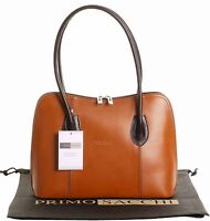 Italian Smooth Leather Classic Style Handbag Tote Grab Bag or Shoulder Bag