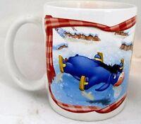 DISNEY Coffee Tea Mug Cup Houston Harvest Winnie the Pooh Tigger Eeyore ceramic