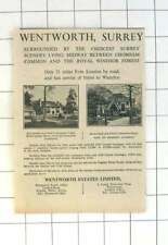 1936 Wentworth, Surrey, Choice Surrey Residences From £2000