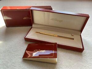 ST. Dupont Vintage Gold slim Ballpoint Pen New