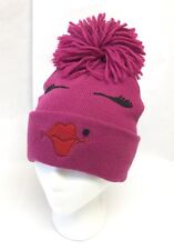 f2e617a0b739b Claire s Fuschia Pink Beanie Winter Ski Hat Girls Silly Face Cap