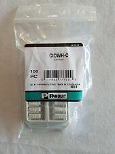 CIDWH-C PANDUIT Plastic Snap-In Port Identifier Mini-Com Data Icon White 100