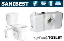 Saniflo SaniBEST | Macerating Upflush Toilet Kit | Pump + Elongated + Extension
