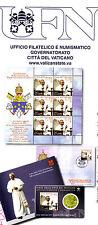 Folder 2012, Vatican, plaquette 6 timbres, enveloppe et pièce 50cts.