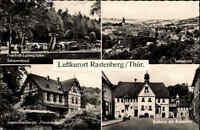 Rastenberg AK ~1962 DDR Mehrbildkarte Schwimmbad Freibad Jugendherberge Rathaus