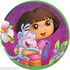 DORA ADVENTURE DESSERT PLATES BIRTHDAY PARTY supplies FREE SHIPPING NEW