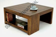 Modern  Wooden coffee center table with bottom shelf !