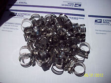 """50 Pcs #10 All Stainless* Band & Housing Hose Clamp,1/2""""-1 1/16"""",2Nd,Free Ship"""