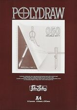 Polydraw Double Matt Polyester Drafting Film Pad - 50 mic.  - A4