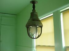 Vintage Industrial Light Lamp Explosion Proof Cage Barn Crouse Hinds Pendant
