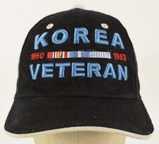 Korea Veteran War 1950 1953 Black Baseball Cap Hat Adjustable