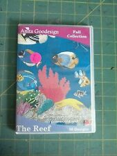 LoT 52 Anita Goodesign Paisley Pansy Monogram Quilt Feathers Reef Fish Shoes