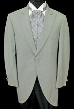Men's Grey Bill Blass Morning Coat Wedding Daytime Formal Tailcoat Cutaway 39XL