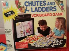 VINTAGE GAME CHUTES AND LADDERS VCR BOARD GAME BY MB VIDEO...1986 New- Old Stock