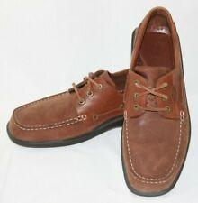 ECCO Men's Rubber Tech Brown Leather Boat Shoes Euro 44 - US 10/10.5