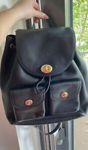 Coach Black Leather Medium Backpack - New With Tag