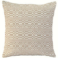 "Handmade Kilim Cushion Cover 20"" 24"" Cotton Indian Persian Moroccan Beige Cream"