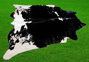 """New Cowhide Rugs Area Cow Skin Leather 26.69 sq.feet (62""""x62"""") Cow hide A-9139"""
