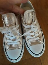 Converse All Star trainer sneaker in pale gold size 4.5