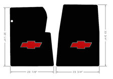 NEW! BLACK FLOOR MATS 1967-1970 Chevy Pickup Truck C10 K10 Red Embroidered Logo