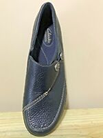 Amputee Single Left Foot CLARKS Bendables Sz 9 Navy Ashland Lane Flat