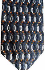 Altea Men's Silk Tie 62.5 X 4 Charcoal w/ black/silver/copper Floral