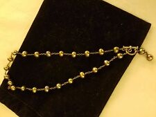 Black Water Pearl Choker with Dangle Pearl Clasp REDUCED