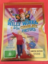 WILLY WONKA AND THE CHOCOLATE FACTORY DVD Limited Edition Metal Case Brand New