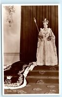 *1953 Queen Elizabeth Crowned Abbey of Westminster Vintage Photo Postcard C85