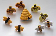 Buzzin Around / Bees & Beehive Shank Craft Buttons / Buttons Galore