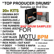 TOP 21 SAMPLE Kits for MOTU BPM RAP HIP HOP Drums WAV Sounds Producer pack