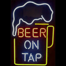 """New Beer On Top Bar Party Light Lamp Wall Decor Neon Sign 17""""x14"""""""