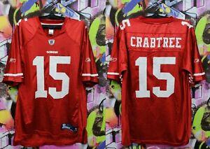 San Francisco 49ers Michael Crabtree #15 NFL Football Jersey Reebok Mens Size L