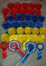 1st To 3rd X10 best in show reserve judge steward 34 rosettes dog show pack