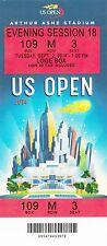 2014 US OPEN TENNIS ROGER FEDERER VS BAUTISTA AGUT SESSION #18 TICKET STUB 9/2