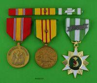 Vietnam Campaign, Service, National Defense Medals Ribbon Bar 1 Campaign Star T1