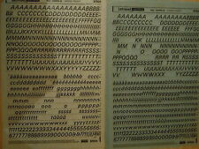 2 x LETRASET Rub on Letter Transfer Letters UNIVERS 56 (36pt) #S7934 USED